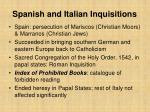 spanish and italian inquisitions