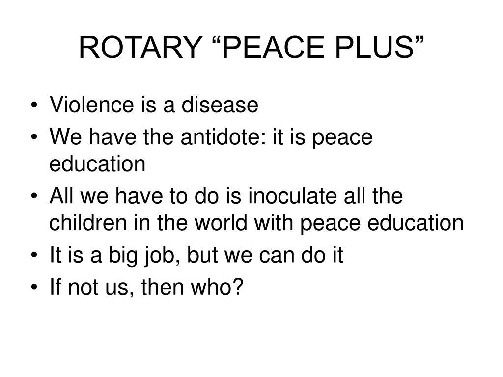 "ROTARY ""PEACE PLUS"""