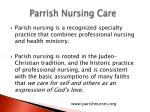 parrish nursing care