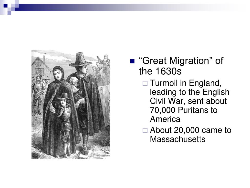 """Great Migration"" of the 1630s"