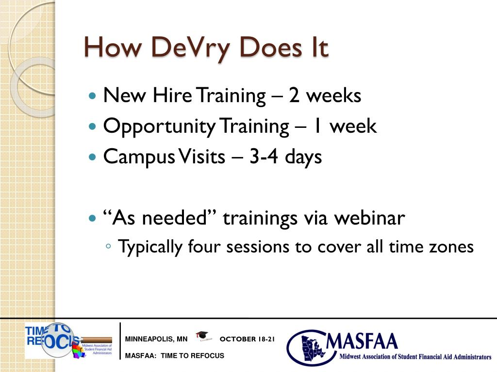 How DeVry Does It