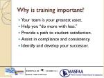 why is training important