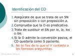 identificaci n del cd