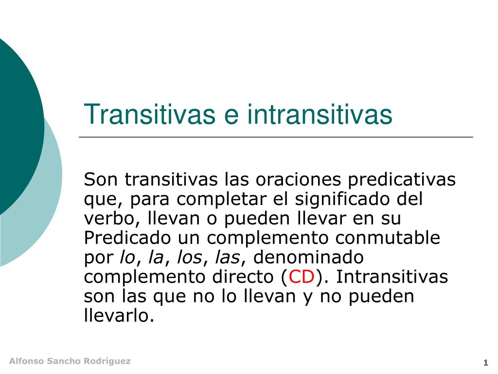 transitivas e intransitivas l.