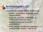 architecture 2d
