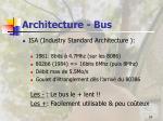 architecture bus