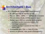 architecture bus27