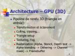 architecture gpu 3d