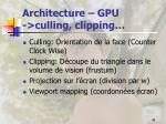 architecture gpu culling clipping
