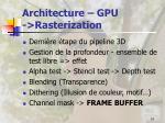 architecture gpu rasterization