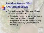 architecture gpu triangle setup
