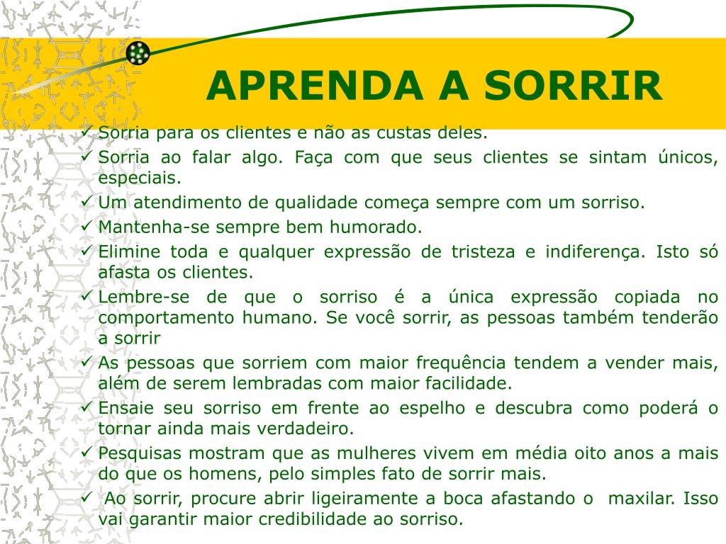 APRENDA A SORRIR