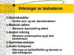 virkninger av testosteron