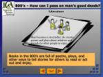 800 s how can i pass on man s good deeds