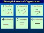 strength levels of organization