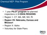 chemical nep pilot program