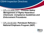 osha inspection directives