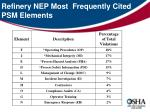 refinery nep most frequently cited psm elements