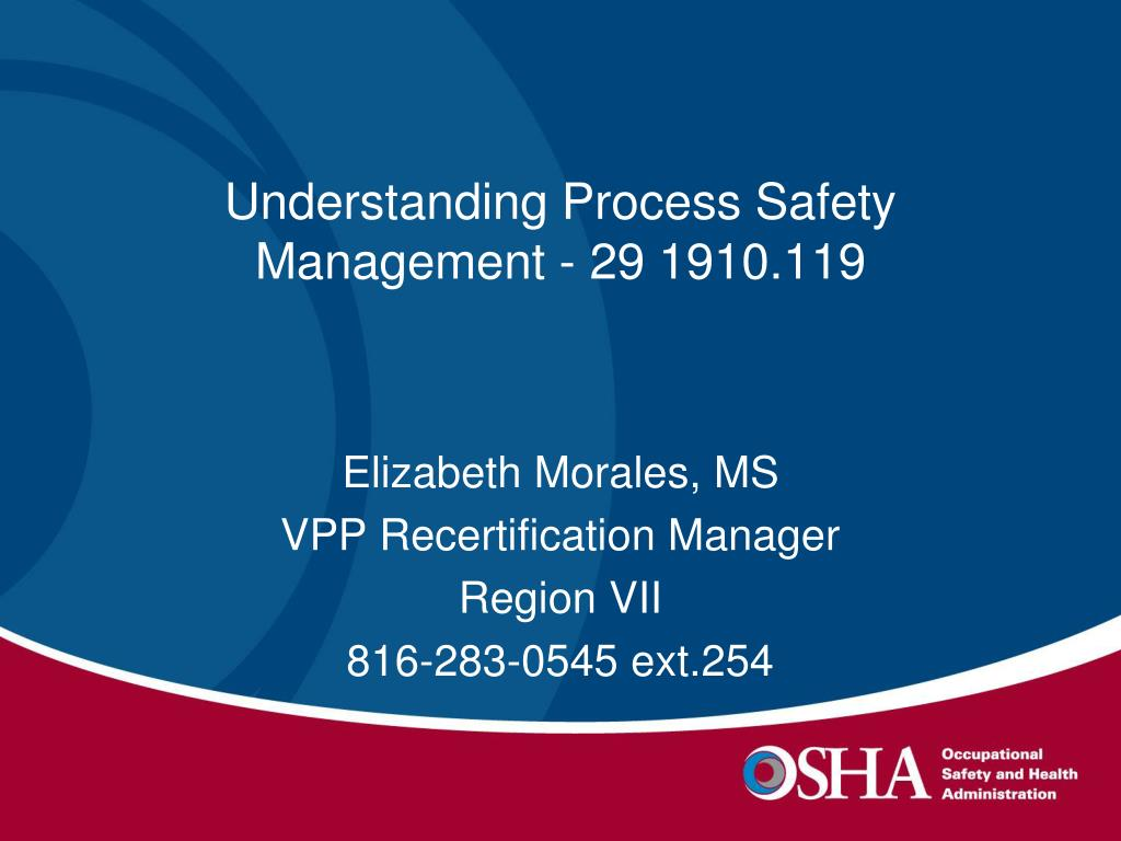understanding process safety management 29 1910 119 l.