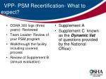vpp psm recertification what to expect