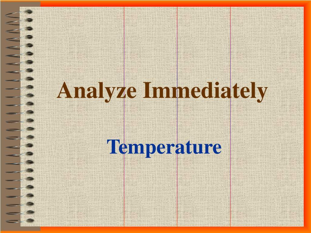 analyze immediately l.