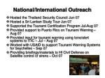 national international outreach