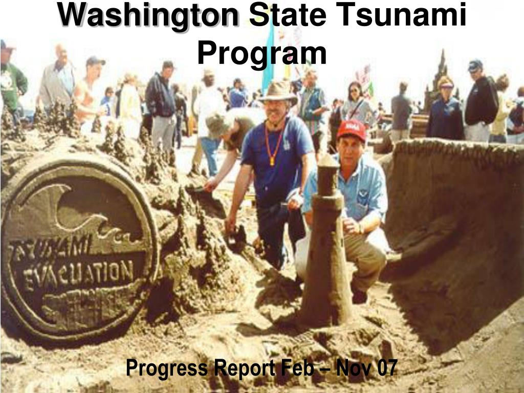 washington state tsunami program l.