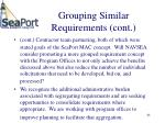 grouping similar requirements cont