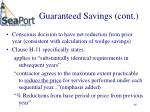 guaranteed savings cont