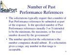 number of past performance references