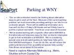 parking at wny