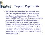proposal page limits