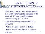 small business subcontracting cont