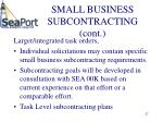 small business subcontracting cont27