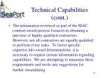 technical capabilities cont