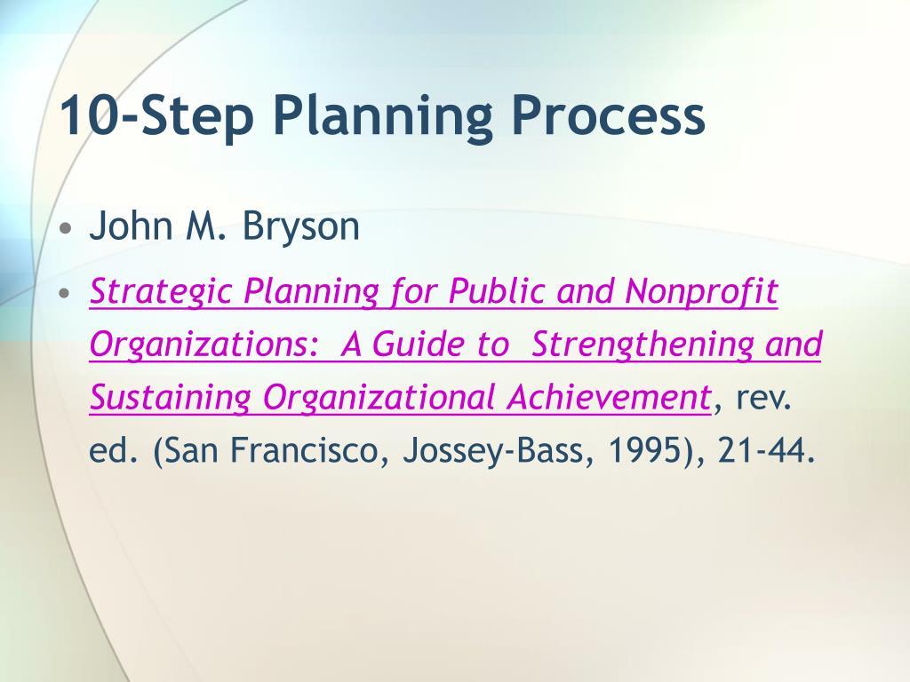 10-Step Planning Process