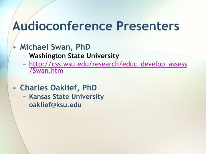 Audioconference presenters