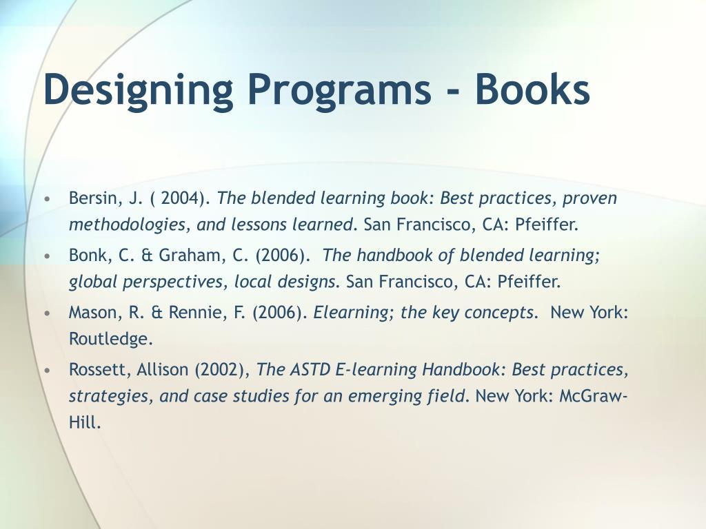 Designing Programs - Books