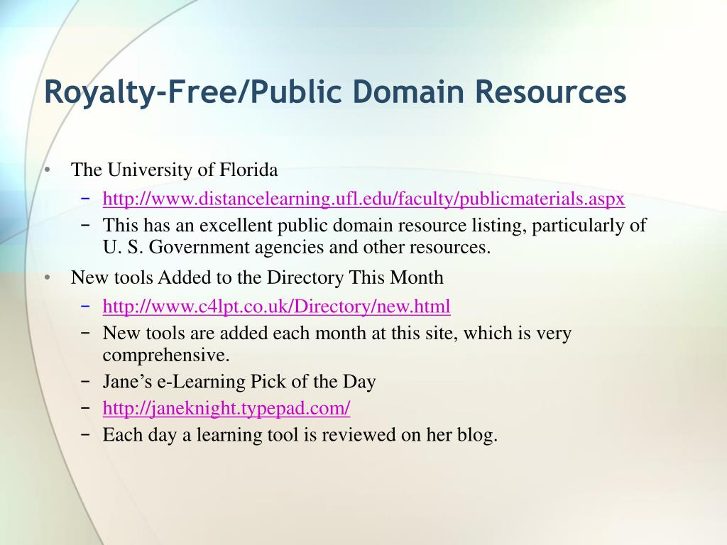 Royalty-Free/Public Domain Resources