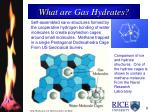 what are gas hydrates