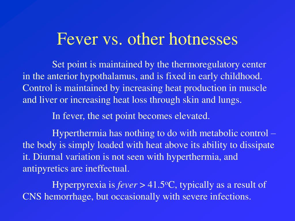 Fever vs. other hotnesses