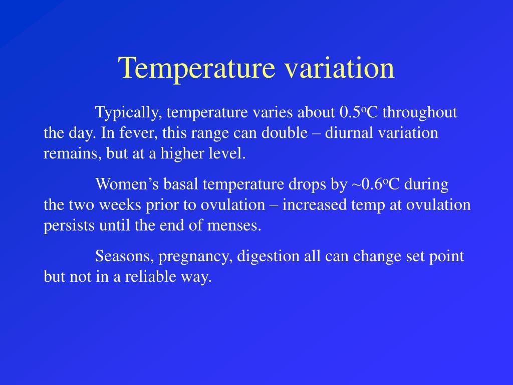 Temperature variation