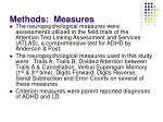 methods measures