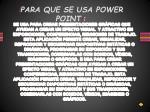 para que se usa power point
