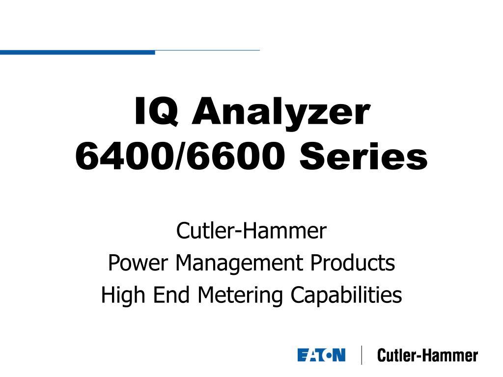 iq analyzer 6400 6600 series l.