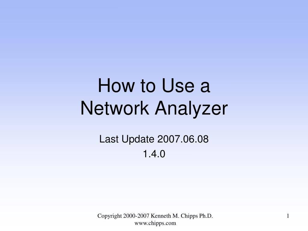 how to use a network analyzer l.