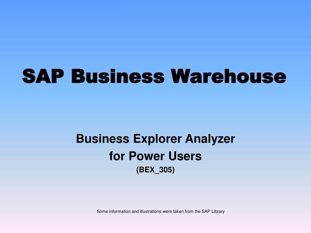 sap business warehouse l.