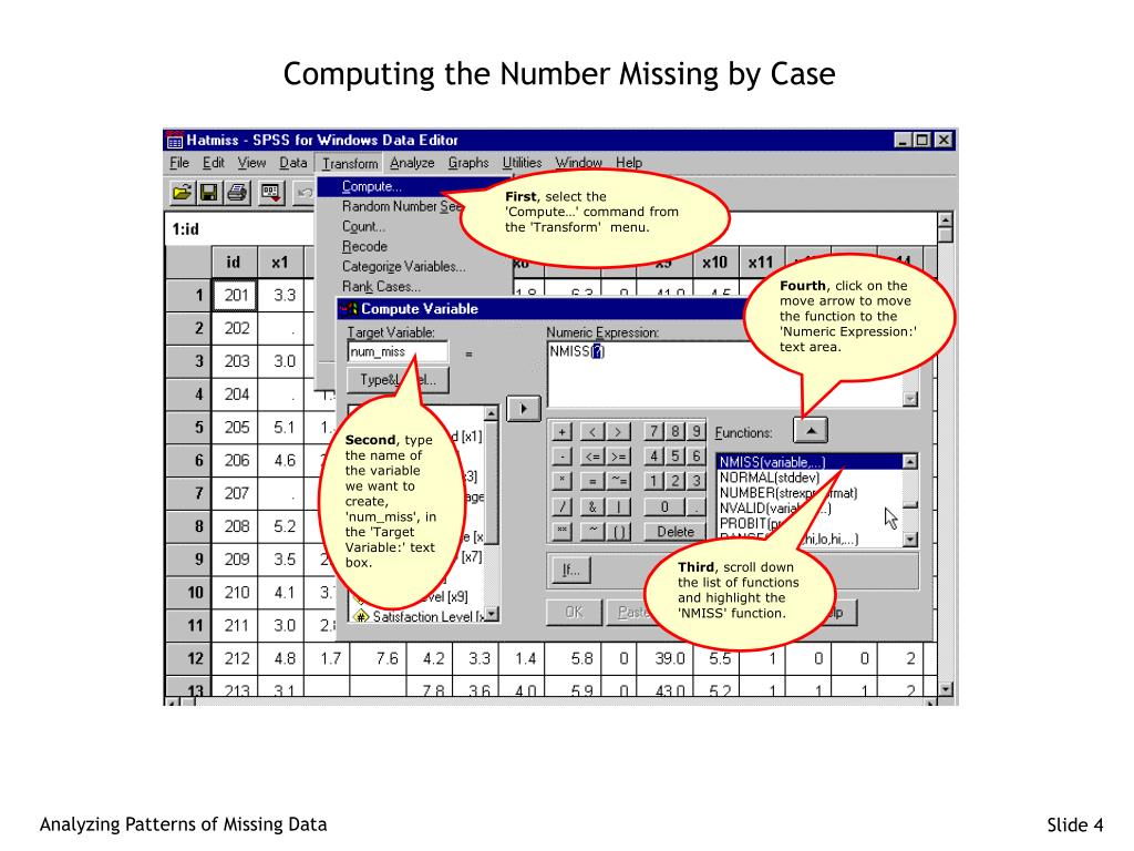 Computing the Number Missing by Case