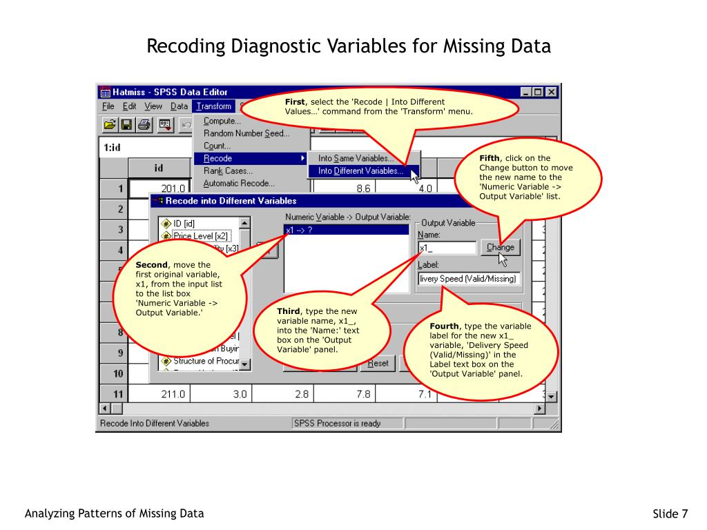 Recoding Diagnostic Variables for Missing Data