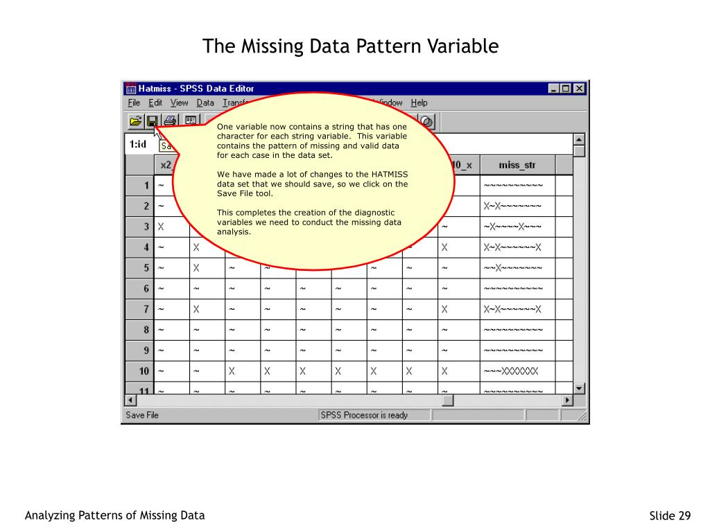 The Missing Data Pattern Variable